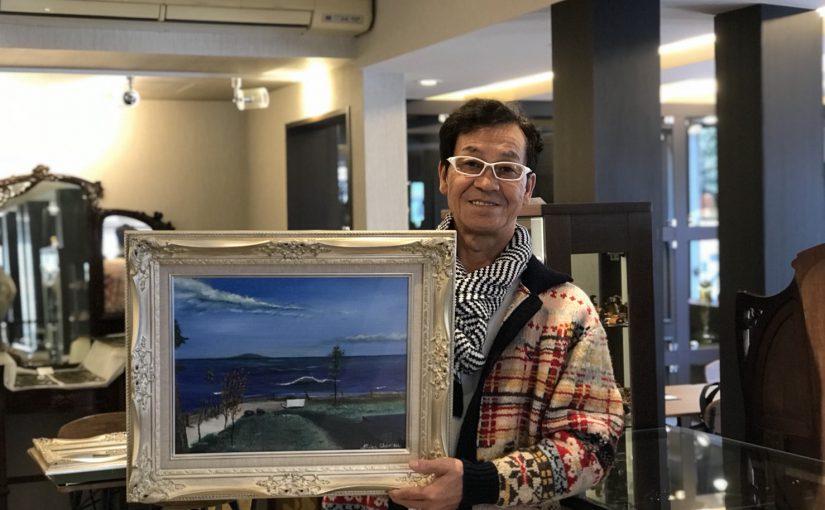 アンティークショップさくらさくらオープン記念イベント 清水アキラ氏 絵画展示